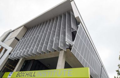 Product: Perforated Metal Architect: Spowers Location: Box Hill Institute, Box Hill