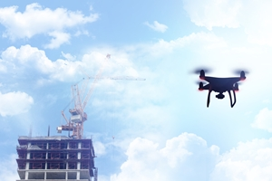How are drones changing the construction process?