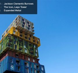 The Lego Tower, or The Icon as it's formally known, is our of our favourite uses of expanded metal in architecture.