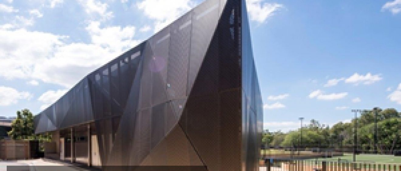 The Sportshub at the University of Queensland is a great example of creative facade design.