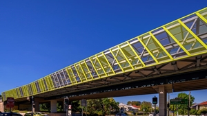 This is the Juliette Cycleway Overpass, a recent project that Locker worked on.