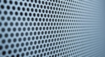 Perforated metal allows for good flow of natural light and air.