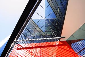Control the acoustics of your building with perforated metal.
